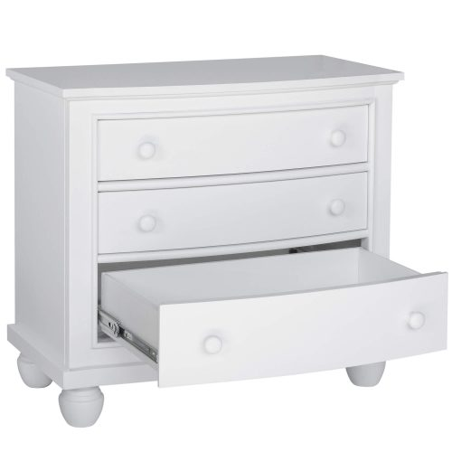 Nightstand - 3 Drawers - three quarter view with bottom drawer open - CF-1136-0150