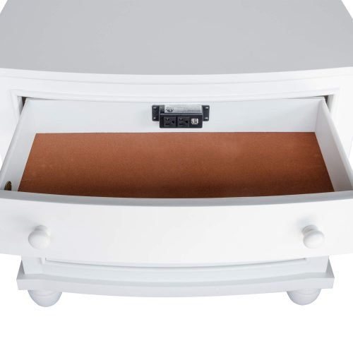 Nightstand - 3 Drawers - top drawer open - CF-1136-0150
