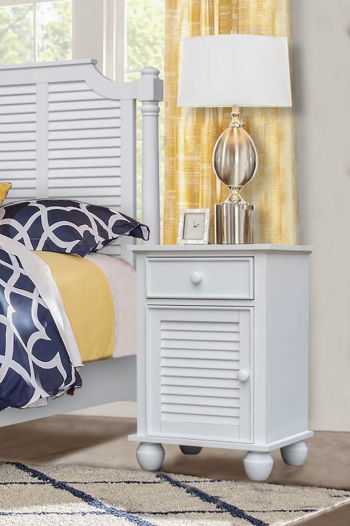 Nightstand with drawer - bedroom scene - CF-1137-0150