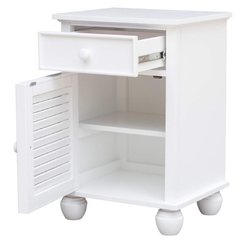 Nightstand with drawer - drawer and cabinet open - CF-1137-0150