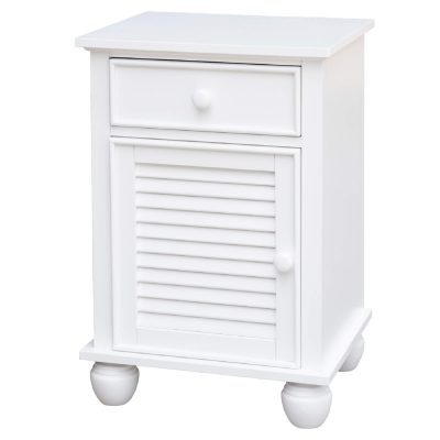 Nightstand with drawer - three quarter view - CF-1137-0150