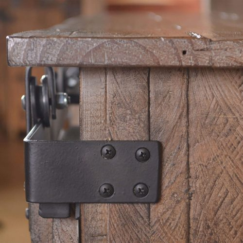 Rustic Gray Collection Console - Corner Hardware detail - HH-2115-060