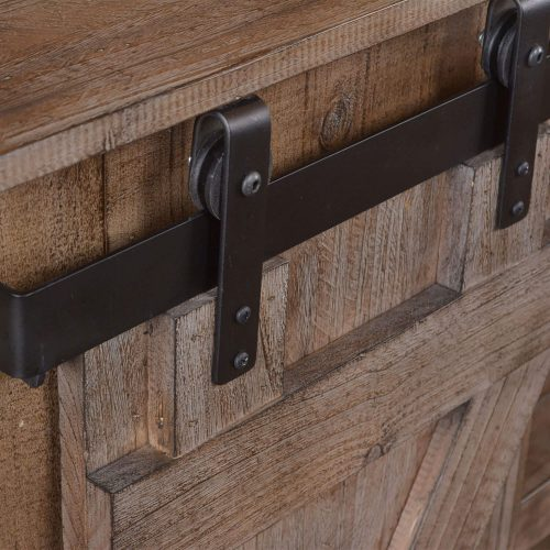 Rustic Gray Collection Console - Top hardware detail - HH-2115-060