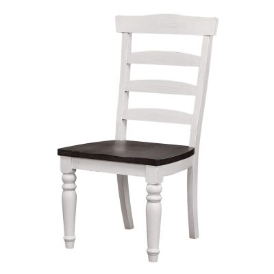 French Chic - Ladder Back Chair - Front view - DLU-FC1432W-2