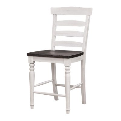 French Chic Collection Ladder Back Stool - Front view - DLU-FC1432-24W