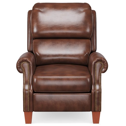 Alexander Pushback Recliner - Chocolate - Front view - SY-689-86-9307-88