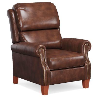 Alexander Pushback Recliner - Chocolate - Three quarter view - SY-689-86-9307-88