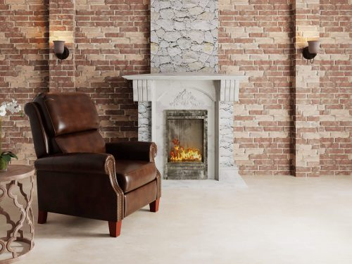 Alexander Pushback Recliner - Chocolate - living room setting - SY-689-86-9307-88