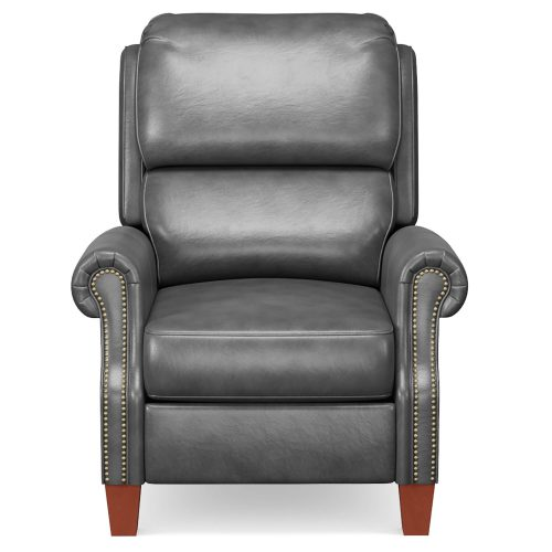 Alexander Pushback Recliner - shown in Dark Gray - Front view - SY-689-86-9307-97