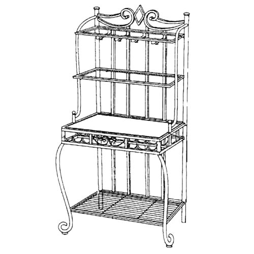 Dart Bakers Rack - schematic - CR-Y2091-85