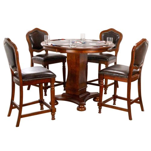 Bellagio Collection - Counter height dining and game table with four chairs - CR-87148-TCB-5P