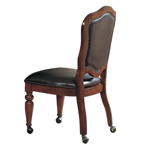 Bellagio Matching Game chair with casters - back view - CR-87148-10