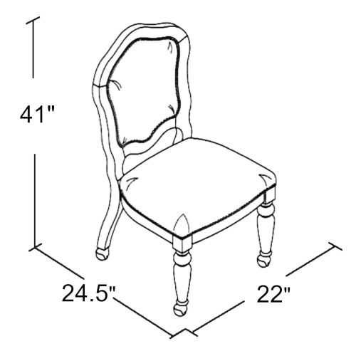 Bellagio Matching Game chair with casters - schematic - CR-87148-10