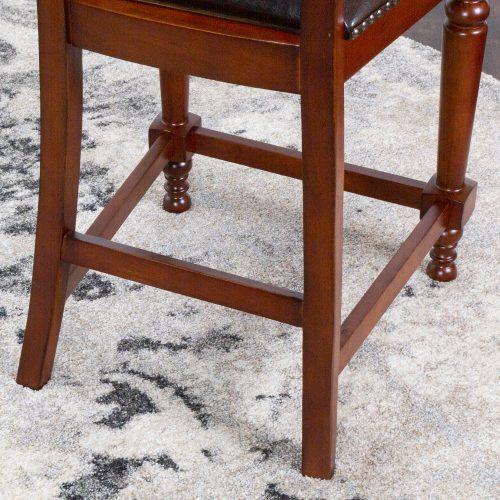 Bellagio Matching Game counter stools - leg construction - CR-87148-24