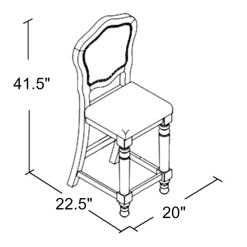 Bellagio Matching Game counter stools - schematic - CR-87148-24