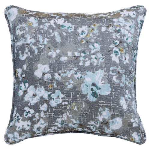 Blue Floral Pushback Recliner Pillow - Front view - SU-1090-86-4841-97