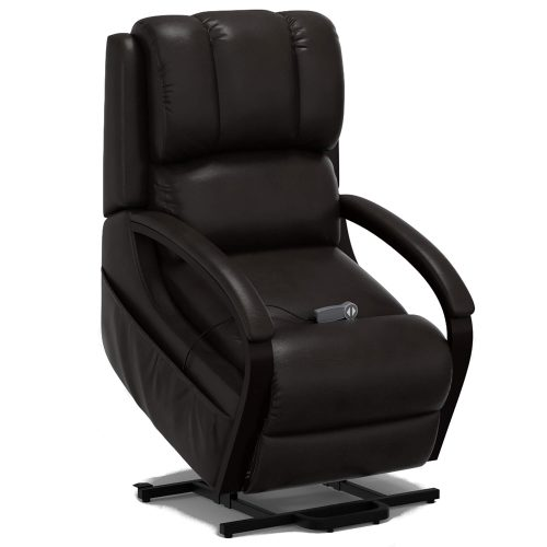 Boost Power Lift Recliner in Espresso - full lift position - SY-1337-89-2340-89