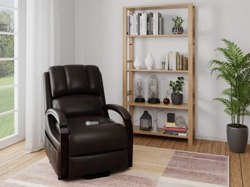 Boost Power Lift Recliner in Espresso - living room setting - SY-1337-89-2340-89