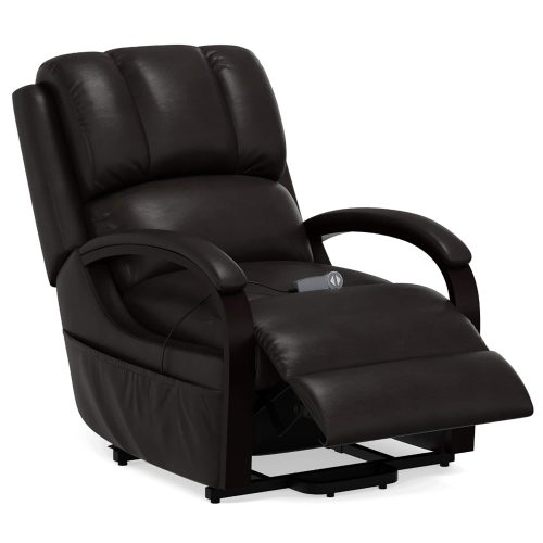 Boost Power Lift Recliner in Espresso - partial recline position - SY-1337-89-2340-89