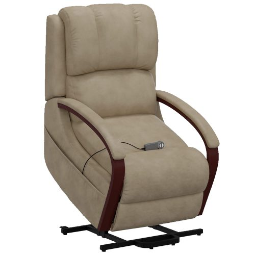 Boost Power Lift Recliner in Taupe - full lift position - SY-1337-89-2340-82