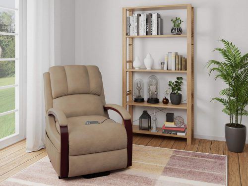 Boost Power Lift Recliner in Taupe - living room setting - SY-1337-89-2340-82