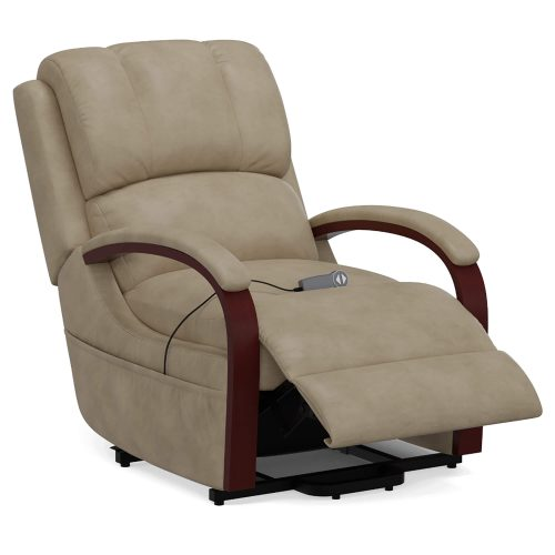 Boost Power Lift Recliner in Taupe - partial recline position - SY-1337-89-2340-82