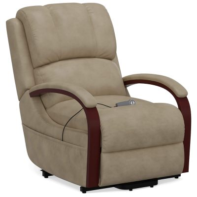 Boost Power Lift Recliner in Taupe - three-quarter view - SY-1337-89-2340-82