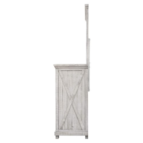 Crossing Barn Collection - Dresser with mirror - side view - CF-4130_34-0786