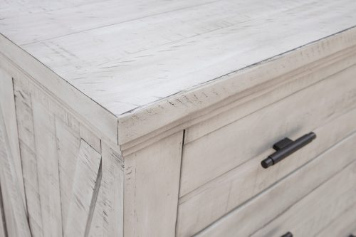 Crossing Barn Collection - Five drawer Chest - top and side detail - CF-4141-0786