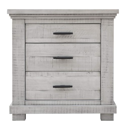 Crossing Barn Collection - Nightstand with three drawers - front view - CF-4136-0786