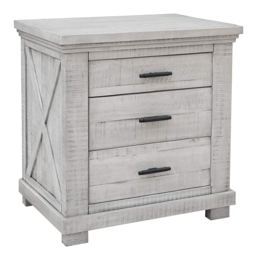Crossing Barn Collection - Nightstand with three drawers - three-quarter view - CF-4136-0786