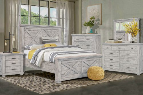 Crossing Barn Collection - Queen size bed frame - dresser with mirror - chest - nightstand - CF-4101-0786-Q5P
