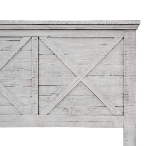Crossing Barn Collection - Queen size bed frame - headboard detail - CF-4101-0786-Q5P