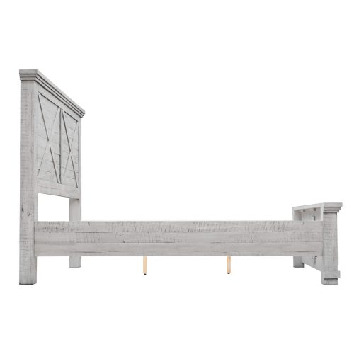 Crossing Barn Collection - Queen size bed frame - side view - CF-4101-0786-Q5P