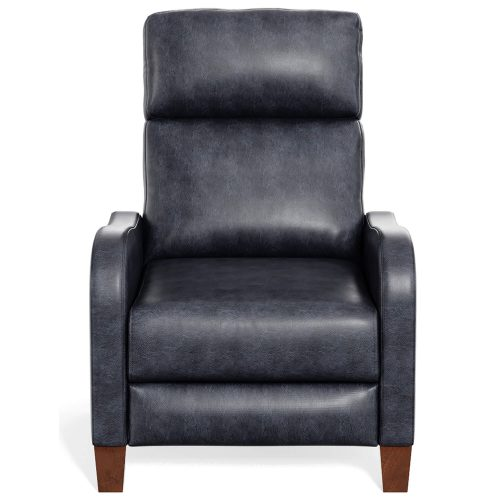 Dana Pushback Recliner shown in Navy - Front view - SY-1005-86-9102-48