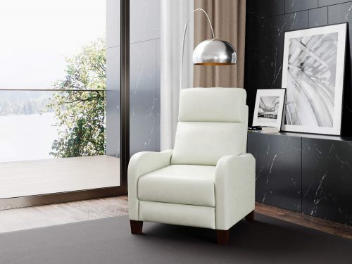 Dana Pushback Recliner shown in Pearl White - Comfortable room setting - SY-1005-86-9102-81