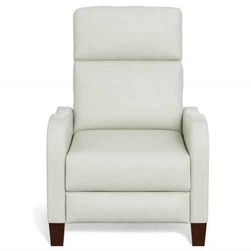 Dana Pushback Recliner shown in Pearl White - Front view - SY-1005-86-9102-81