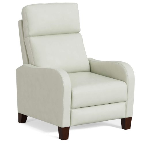 Dana Pushback Recliner shown in Pearl White - Three-quarter view - SY-1005-86-9102-81