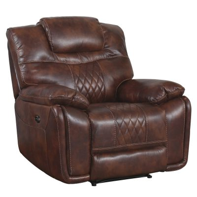 Diamond Power Reclining Collection - Reclining living room set in brown - armchair - three-quarter view - SU-ZY5018A003-H246