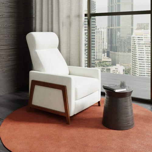 Edge Pushback Recliner shown in Pearl White - Comfortable room setting - SY-1357-86-9102-81