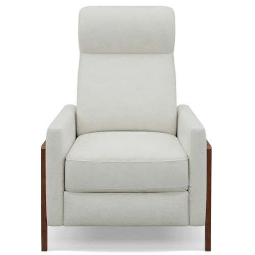 Edge Pushback Recliner shown in Pearl White - Front view - SY-1357-86-9102-81