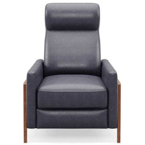 Edge Pushback Recliner - shown in Slate Gray - Front view - SY-1357-86-9102-94