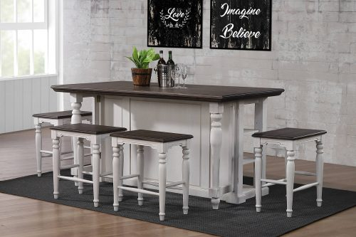 French Chic Collection - Drop Leaf Kitchen Island - in kitchen - front view - DLU-FC1016-IT