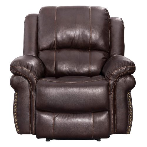 Glorious Collection - Reclining Chair in brown - front view - SU-GL-U9521R