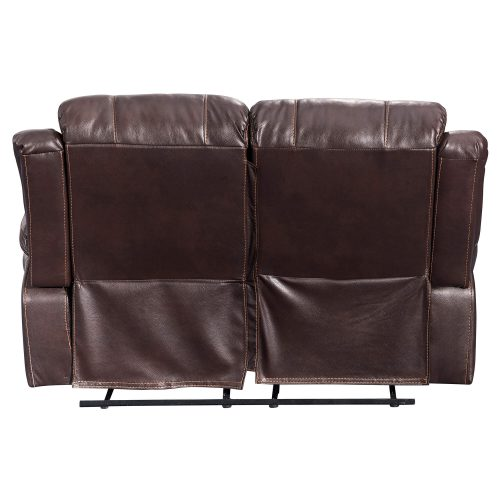 Glorious Collection - Reclining Loveseat in brown - back view - SU-GL-U9521L