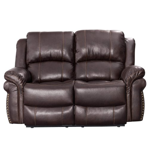 Glorious Collection - Reclining Loveseat in brown - front view - SU-GL-U9521L