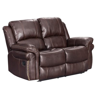 Glorious Collection - Reclining Loveseat in brown - three-quarter view - SU-GL-U9521L