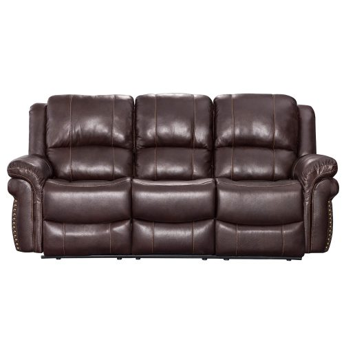 Glorious Collection - Reclining Sofa in brown - front view - SU-GL-U9521S
