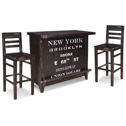 Graphic Collection - Wine Bar with two bar stools - HH-8725-175-3PC