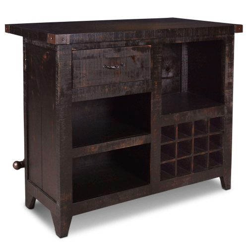 Graphics Collection - Wine bar with 12 bottle storage - back view - HH-8725-175